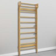 Drabinka gimnastyczna, przyścienna, 80 x 15,8 x 195 cm, drewno