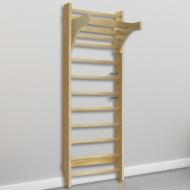 Drabinka gimnastyczna, przyścienna, 80 x 55 x 220 cm, drewno