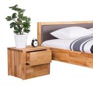 Drewniana szafka nocna z 2 szufladami CARRIS Lince