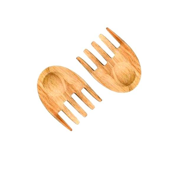 Drewniane łapki do serwowania sałaty Sagaform Oval Oak SF-5015710