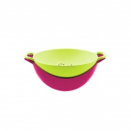 Durszlak z miską 15 cm Zak! Designs różowo-zielony