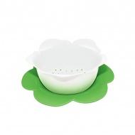 Durszlak z podstawką 16,5 cm Zak! Designs biało-zielony