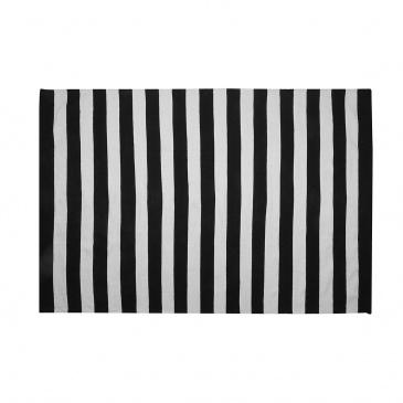 Dywan na zewnątrz czarno-biały 140 x 200 cm TAVAS