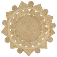 Dywan pleciony ręcznie z juty, 120 cm