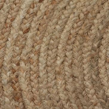 Dywan pleciony z juty, 120 cm, okrągły