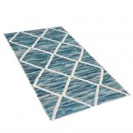 Dywan wełniany 80 x 150 cm niebieski BELENLI
