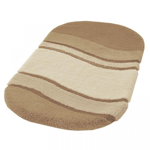 Dywanik łazienkowy 60x100 cm Kleine Wolke Siesta piaskowy KW-5476231360