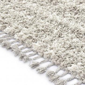 Dywanik shaggy, berberyjski, PP, piaskowo-beżowy, 140x200 cm