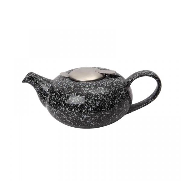 Dzbanek z filtrem 0,6 l London Pottery Pebble czarny nakrapiany LP-17282008