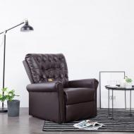 Elektryczny fotel do masażu, z regulacją, brązowy, ekoskóra