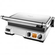 Elektryczny grill kontaktowy 2w1 18x43cm Sage srebrny