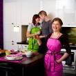 Fartuch kuchenny Nytta Design Cupcake turkusowy NY-NDS-726-3