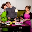 Fartuch kuchenny Nytta Design Smart Party czerwony NY-NDS-706-8