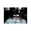 FELIX stojak + 6 kieliszków do wina, czarny,bez op FH-1B(1)