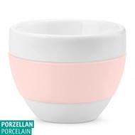 Filiżanka do cappuccino Koziol AROMA biały/jasny róż KZ-3561347