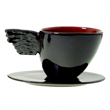Filiżanka do herbaty Two People Black Angel