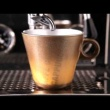 Filiżanka espresso z grafiką + spodek Leonardo Ooh! Magico brązowy metalik 063890