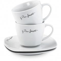 Filiżanki porcelanowe 2x0,22l Dine Lamart białe