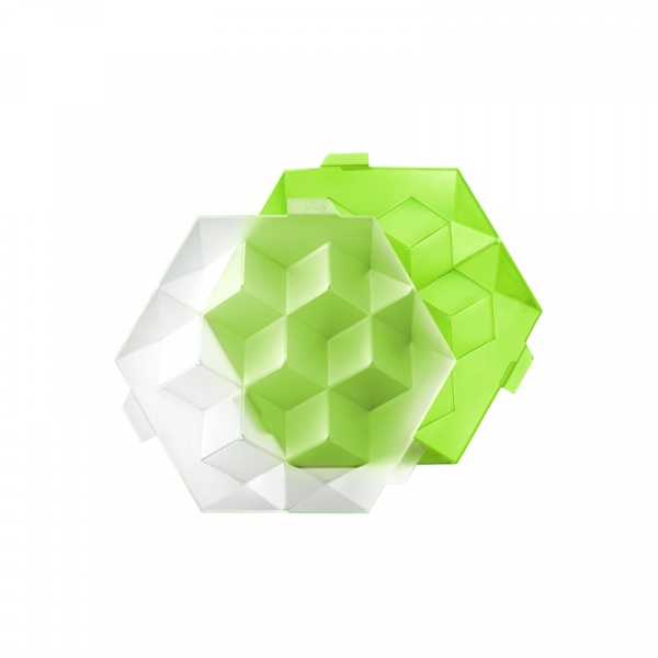 Foremka do lodu Lekue Ice Cube Giant zielona 0250600V05C004