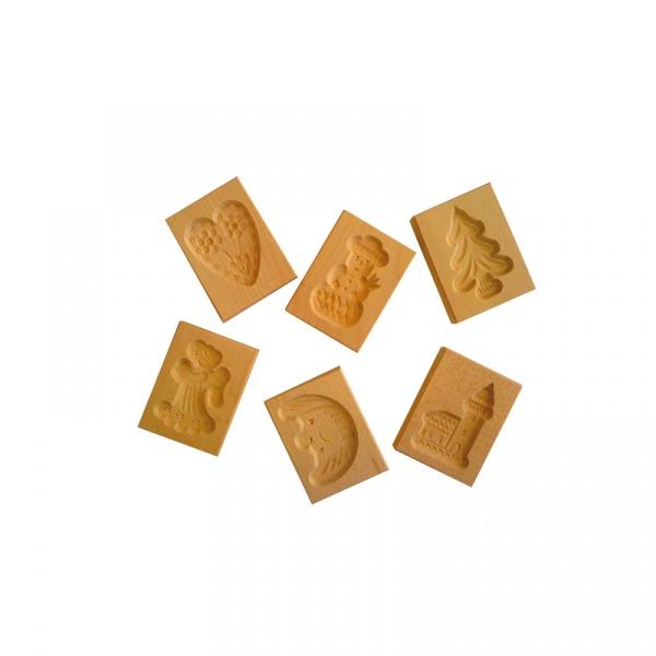Foremki do ciastek drewniane SPEKULATIUS 6 szt. Birkmann 340 091