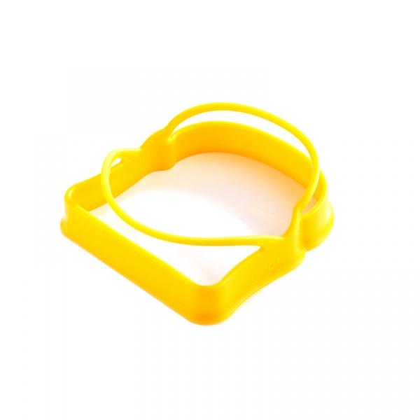 Foremki silikonowe do jajek w kształcie tostów 2 szt. Mastrad żółte MA-F65809