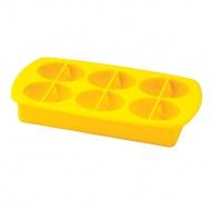 forma do lodu z pokrywką, cząstki cytrusów, 21 x 10,5 x 3,5 cm, silikon/tworzywo sztuczne