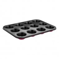 Forma do muffinek 12szt. Lamart Base czerwono-czarna