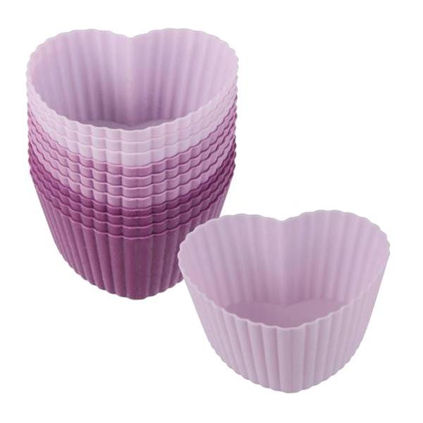Forma do muffinów 12 szt. Lurch Flexiform serca LU-00085014
