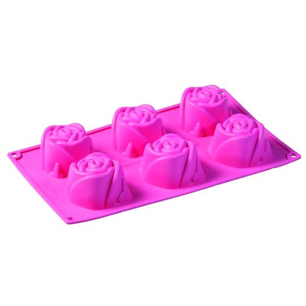 Forma na babeczki 6 sztuk różyczki Rosa Pavoni FR052ROS.2