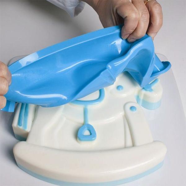 Forma Na Ciastotort Pavoni Baby Shower Niebieska Superwnetrzepl