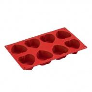 Forma Pavoni Muffin Hearths czerwona