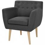 Fotel 67x59x77 cm, ciemnoszary materiał