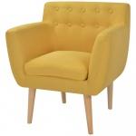 Fotel 67x59x77 cm, żółty materiał