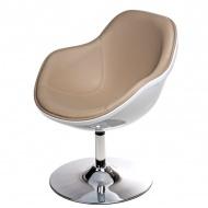 Fotel 81x69x66cm Pezzo D2 biało-beżowy