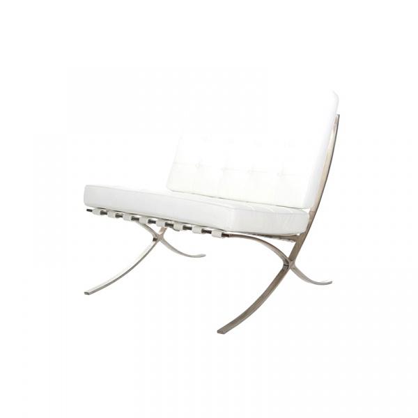 Fotel BA1 skóra biała TP 5902385702980