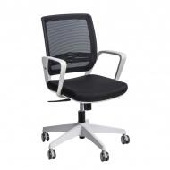 Fotel biurowy 90x56x50 cm Maduu Studio Seca czarno-szary