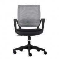 Fotel biurowy 90x56x50 cm Maduu Studio Seca szaro-czarny