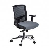 Fotel biurowy 91x63x58 cm Maduu Studio Ergo czarno-szary