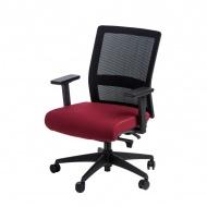 Fotel biurowy 94x67x66 cm Maduu Studio Press czarno-czerwony