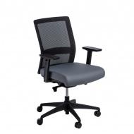 Fotel biurowy 94x67x66 cm Maduu Studio Press czarno-szary