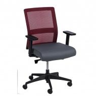 Fotel biurowy 94x67x66 cm Maduu Studio Press czerwono-szary