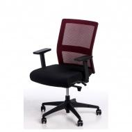 Fotel biurowy 94x67x66 cm Maduu Studio Press czerwono-czarny