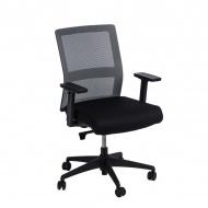 Fotel biurowy 94x67x66 cm Maduu Studio Press szaro-czarny