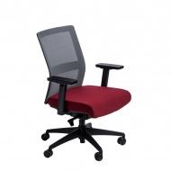 Fotel biurowy 94x67x66 cm Maduu Studio Press szaro-czerwony