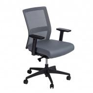 Fotel biurowy 94x67x66 cm Maduu Studio Press szary
