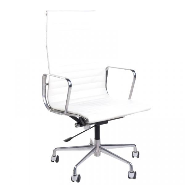 Fotel biurowy CH1191T biała skóra/chrom 5902385710251