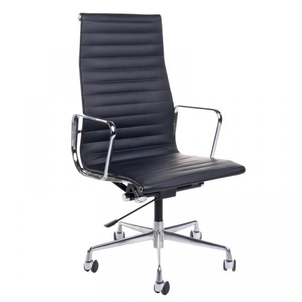 Fotel biurowy CH1191T czarna skóra/chrom DK-25672