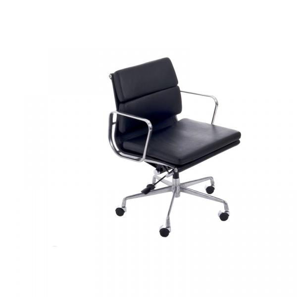 Fotel biurowy CH2171T czarna skóra chrom DK-27751