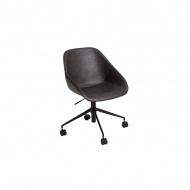 Fotel biurowy Poter 80x55x63 cm Maduu Studio ciemnoszare