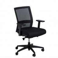 Fotel biurowy Press czarny/czarny ówkiem